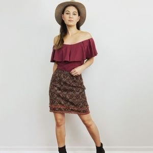 Free People Ruffle Off The Shoulder Top